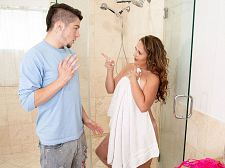 Brandii takes a shower with her son's utmost friend