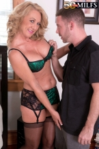 Cali comes to 50PlusMILFs.com and acquires her ass fucked