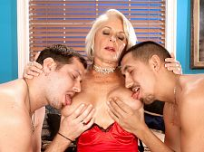 Georgette screws 2 boys for the first time on-camera