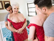 Jewel is 66. Her granddaughter's partner is Twenty four.