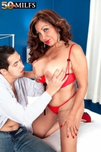 A big-assed Latin babe with large juggs and dick-sucking lips
