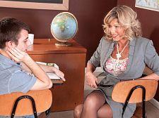 Teacher receives a creampie