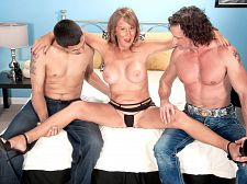 Trisha acquires ass-fucked by two males and swallows
